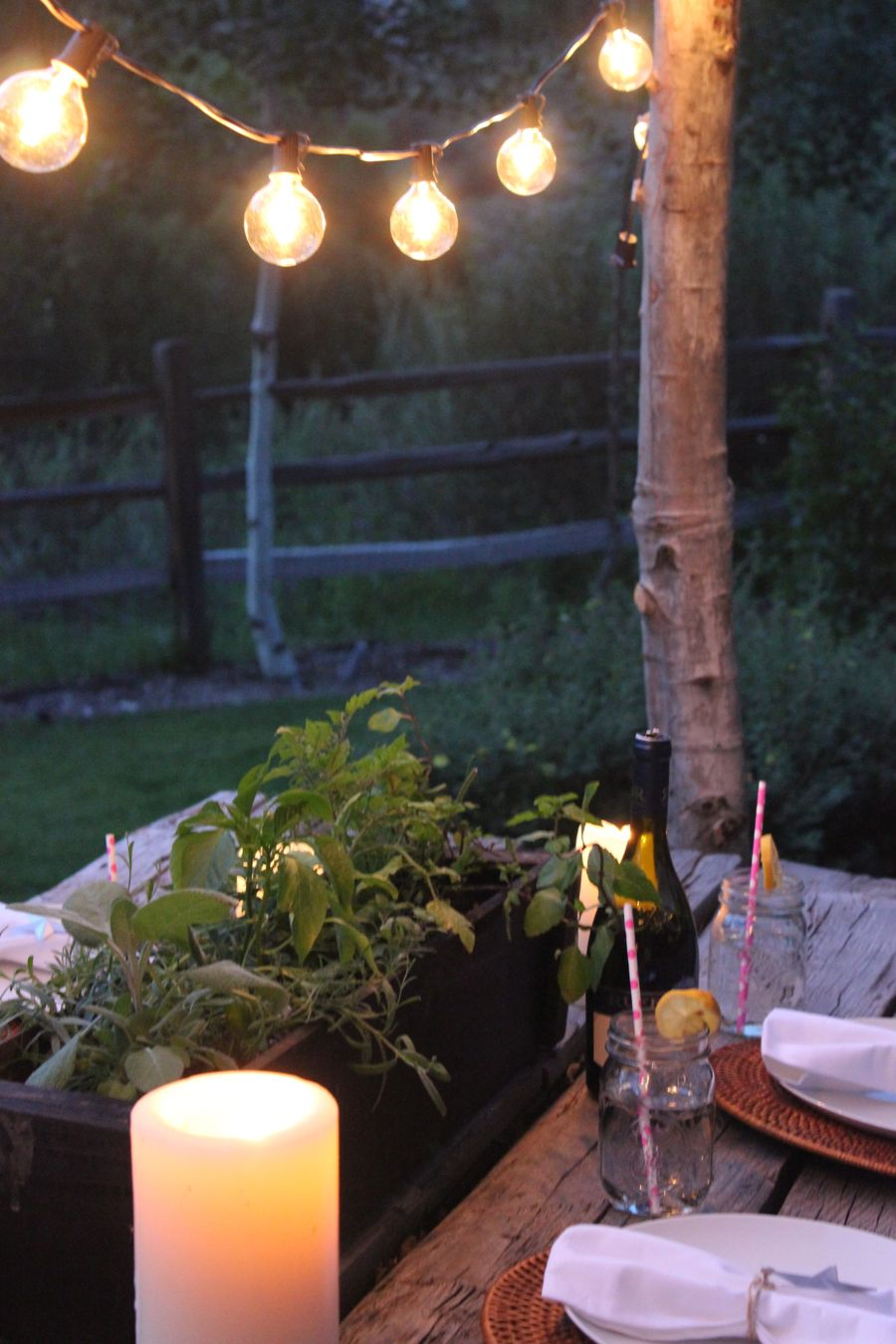 Make DIY String Light Poles with Concrete Stands for ... on Backyard String Lights Diy  id=28133