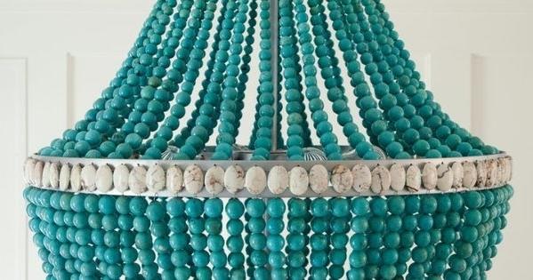 Top 10 Of Turquoise Beaded Chandelier Light Fixtures