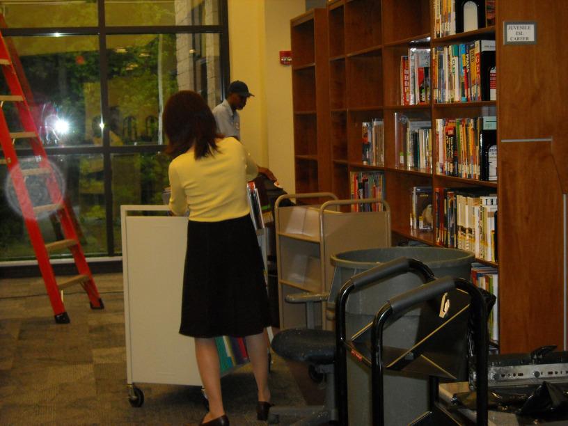 Library soaking May 7, 2009