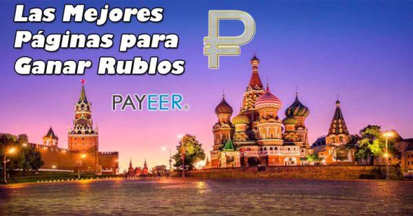 Páginas para ganar rublos por Internet