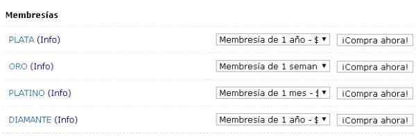 PaidToClick comprar membresías