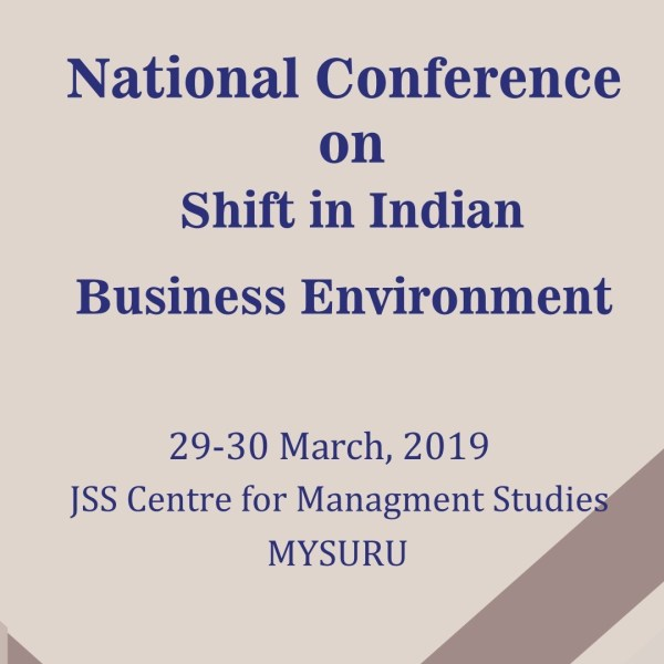 National Conference on Shift in Indian Business Environment