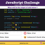 JavaScript Quiz - can really instanceof operator work on string literal