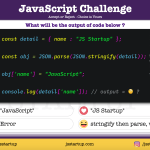 JavaScript Quiz - copy object with JSON stringify and parse method