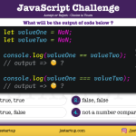 JavaScript Quiz - can NaN be really equal to NaN - JS Startup