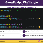 JavaScript Quiz - numbers array can be sort - JS Startup