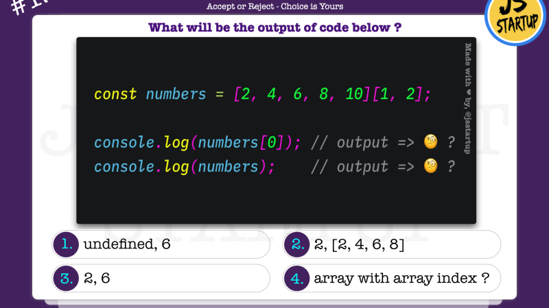 JavaScript Quiz – can array really be access with an array