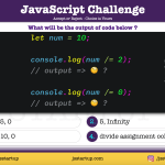 JavaScript Quiz - can divide assignment operator work in one go - JS Startup