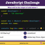 JavaScript Quiz - delete work on object create method object - JS Startup
