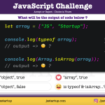 JavaScript Quiz - isArray method and typeof intend is different - JS Startup