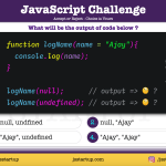 JavaScript Quiz - null and undefined consider as value in function parameter - JS Startup