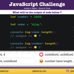 JavaScript Quiz - string length and number length what they return? - JS Startup