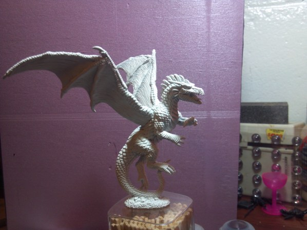 Primed Dragon, ready to paint. Click to Enlarge.