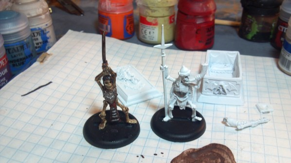 Vintage (OOP) Ral Partha skeleton miniature. Click to Enlarge.