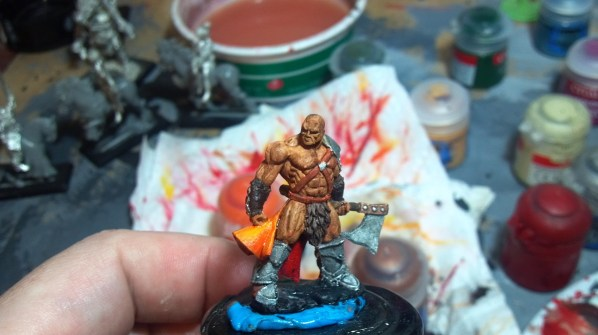 In this picture the miniature has been painted but not gloss coated yet. Click to Enlarge.