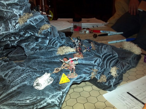 Hand painted miniatures and gaming terrain in action. Click to Enlarge.