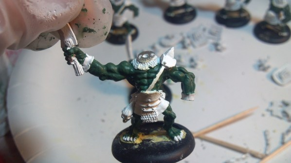 Close up of the rough base coat. Click to Enlarge.