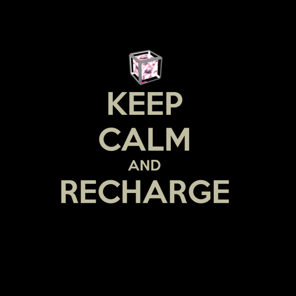 KEEP CALM & RECHARGE. My entry into the WeLoveFine IngressWear Contest. Click to Enlarge.