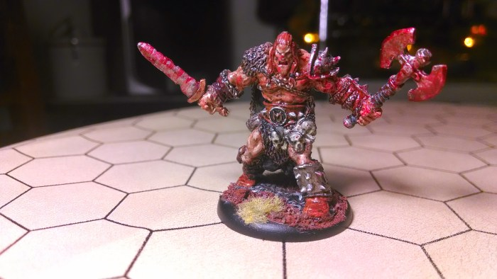 Kord the Destroyer, Berserker Hero, Reaper 3309, Hand Painted Miniature. Click to Enlarge.