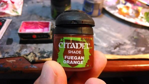"""Citadel Fuegan Orange """"Shade"""" wash. Click to Enlarge."""