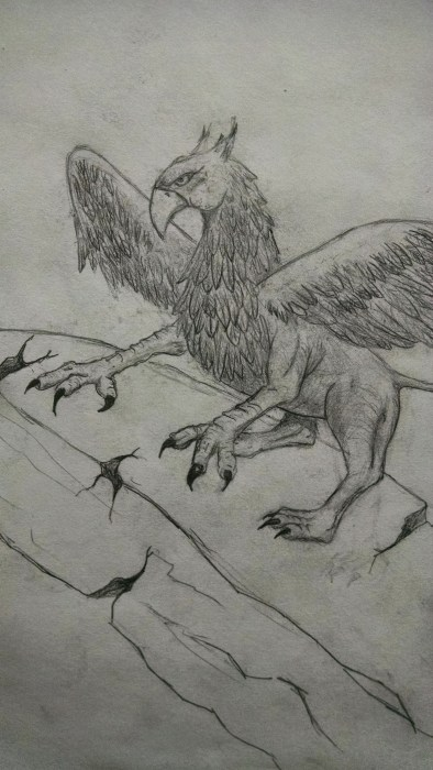 Close up of finished griffin. Click to Enlarge.
