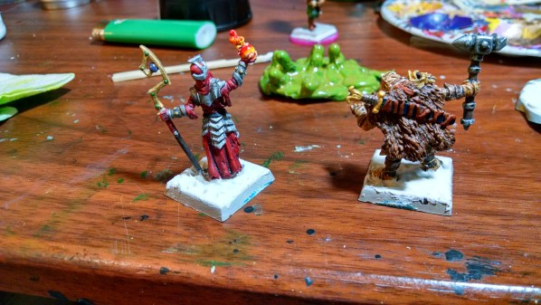 Modeling Paste on the Miniature Bases. Click to Enlarge.