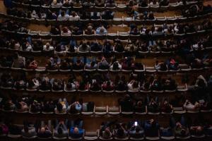 Look down upon theatre auditorium