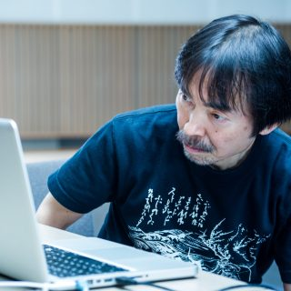 Miyagi directs his play through computer screen