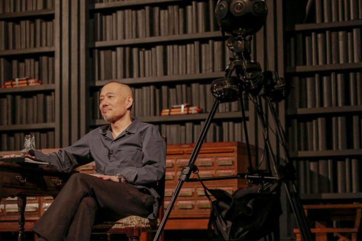 "Stage photo of ""Defiled"" Tetsuya Chiba"