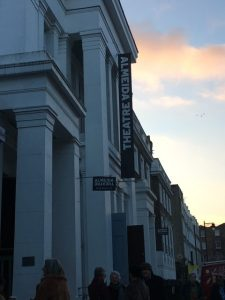 An exterior of the Almeida Theatre in London