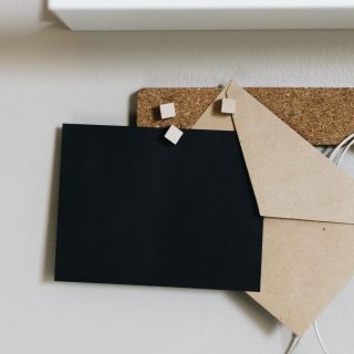Black blank envelope