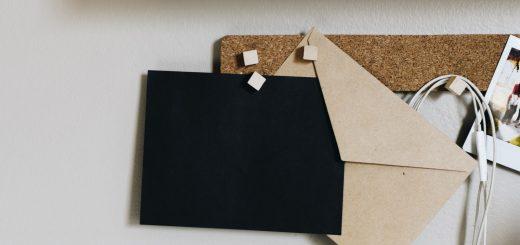 Black blank envelope