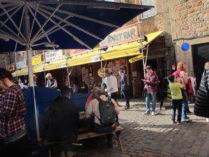 Courtyard of Pleasance theatre