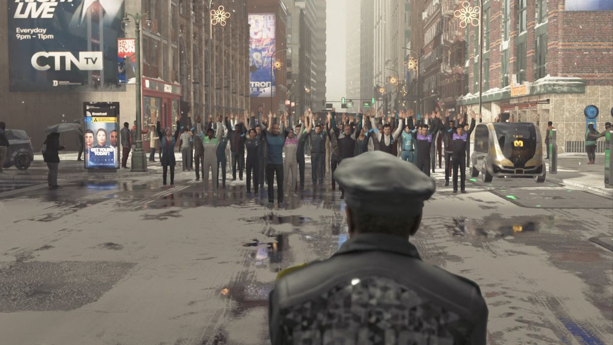 Image result for detroit become human protest