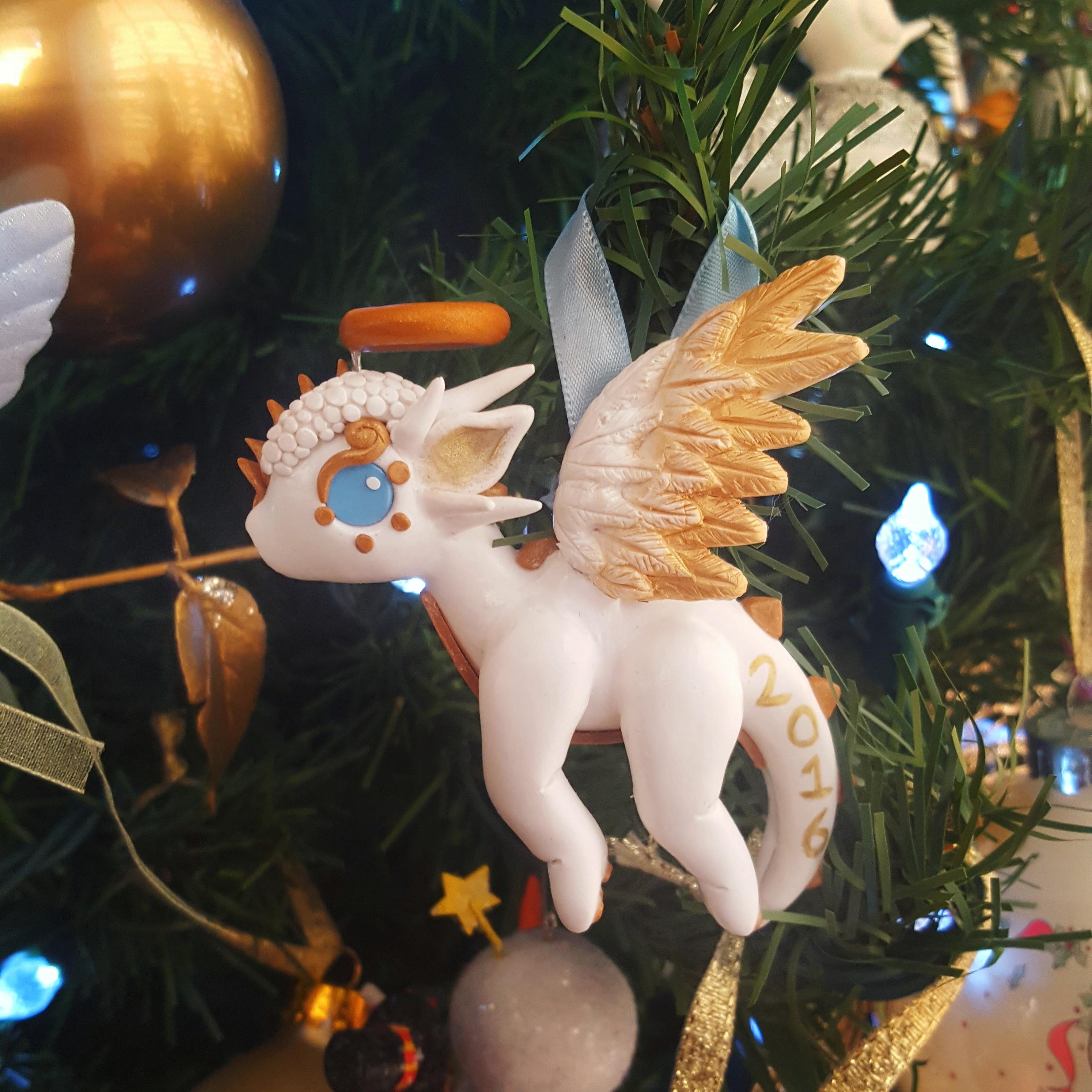 Gingerbread dragon ornaments