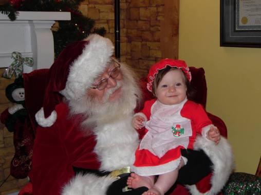 Ariana with Santa