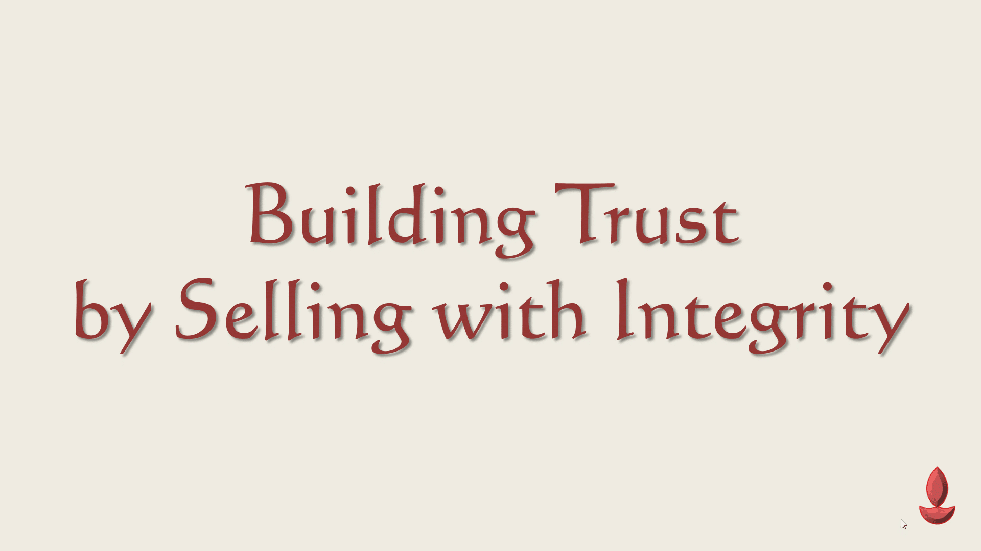 Success by Selling with Integrity