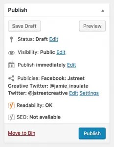 Publicize in-post feature