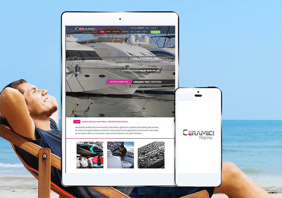 Ceramic Pro Wales graphic and web design project