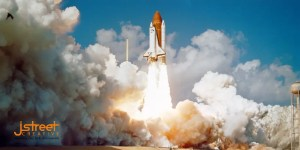 Space shuttle image for twitter launch campaign post