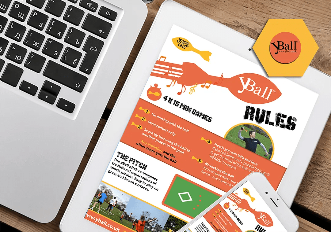 yBall Sports Club design and graphics project
