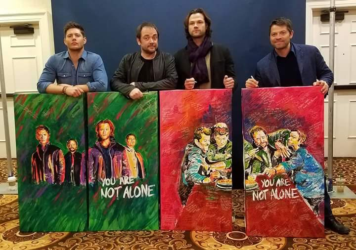 Jensen Ackles, Mark Sheppard, Jared Padalecki and Misha Collins.jpg