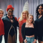 Pictured above, several performers pose for photos with fans after their Cocky Queens performance. All together, the drag queens raised over $700 for Birmingham based LGBTQ center. (Miranda Ladd/The Chanticleer)