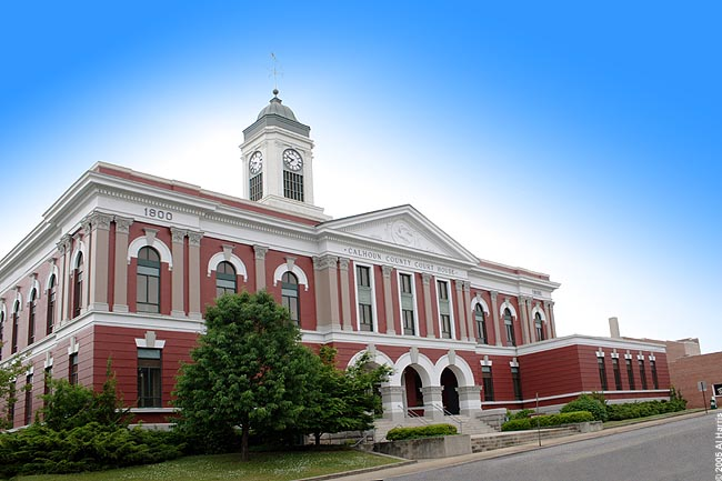 Pictured is the Calhoun County Court House located in Anniston. (Courtesy of Al Harris)