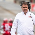 Coach John Grass on the sideline in the 2019 regular season game against Murray State. (Courtesy of JSU)