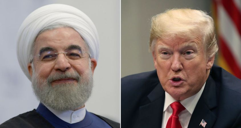 "Iranian President Hassan Rouhani, pictured left, has promised to ""take revenge"" for U.S. airstrike that killed a top Iranian general. (Courtesy of CNN)"