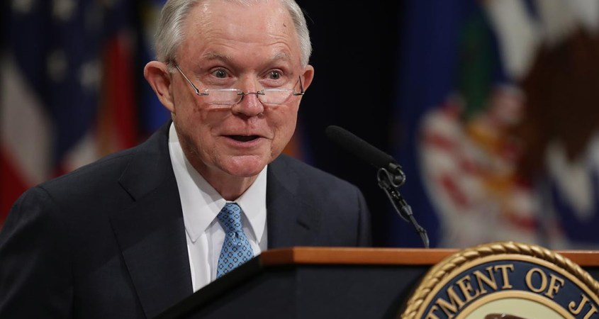 Jeff Sessions served as the U.S. Attorney General from 2017 to 2018. He is now running in the Republican primary for his old Senate seat that Doug Jones currently holds. (Chip Somodevilla/Getty Images)