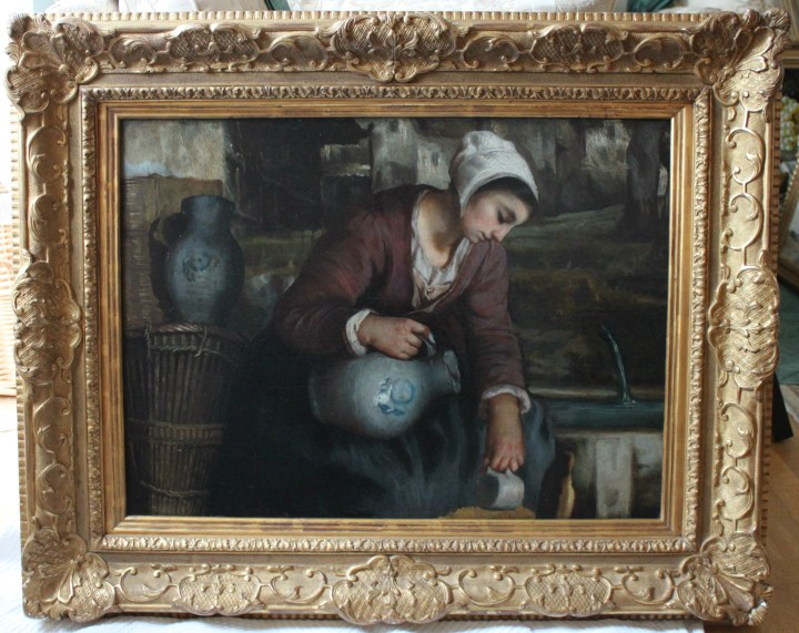 Woman Filling a Pitcher at the Well