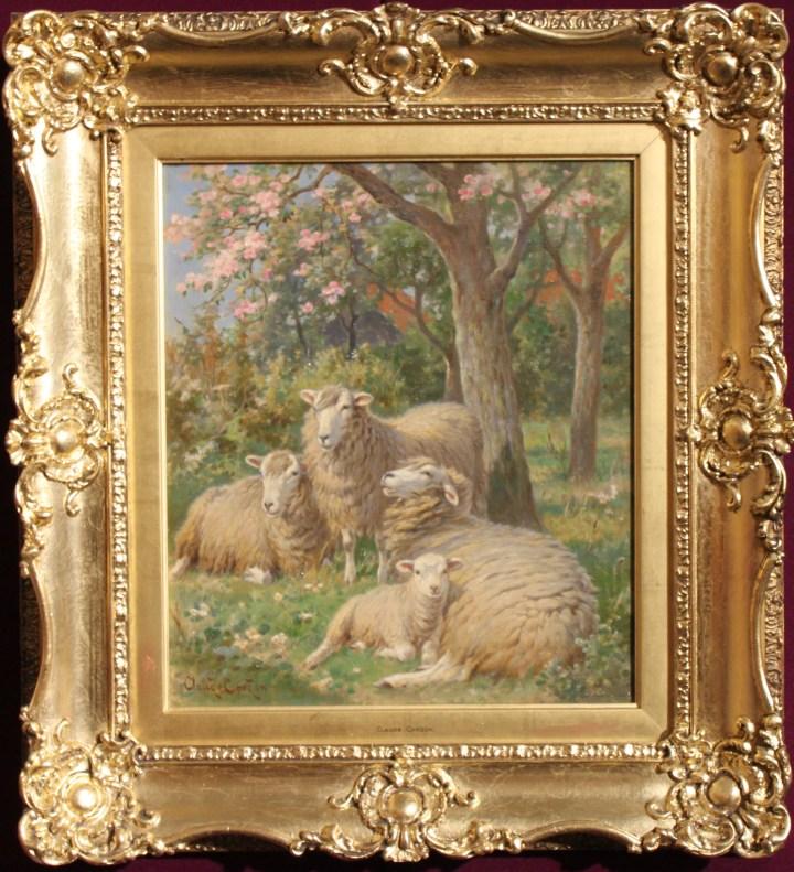 Sheep in an orchard – claude cardon