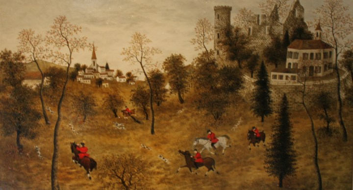 French Hunting Scene – Maurice Ghiglian-Green
